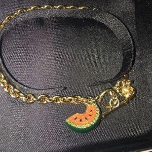 Juicy Couture RARE Watermelon charm bracelet