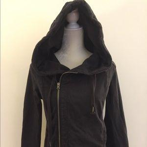 Converse asymmetrical zip hoodie sweatshirt