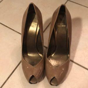 Stuart Weizmann open toe heels size 10