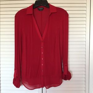 BEBE Red Blouse - M