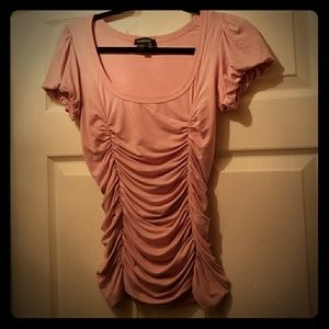 Bebe solid sleeved top