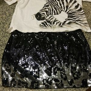Express black skirt.