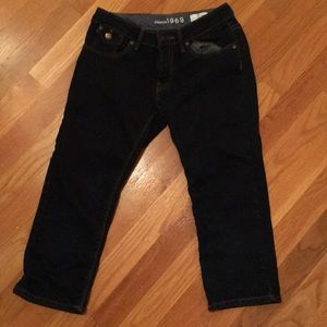 kids dark blue denim jeans