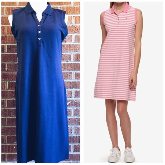 dea28461 Tommy Hilfiger Dresses   Navy Blue Sleeveless Polo Dress   Poshmark