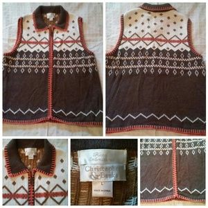 Sweater Vest Embroidered