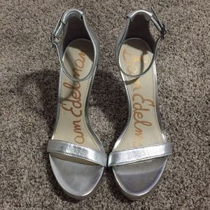 Sam Edelman Strappy silver high heels