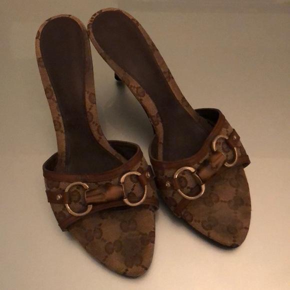 d2ab7d0938b5 Gucci Shoes - Classic Gucci Bamboo Horsebit monogram heels Sz.38