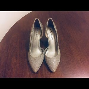 CL by Laundry Silver Sparkle Heels, New in box, 8