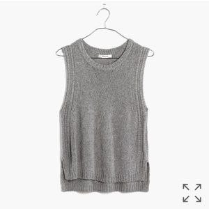 "Madewell 💥NWOT💥 ""Edge Stitch Sweater Vest"" Grey"