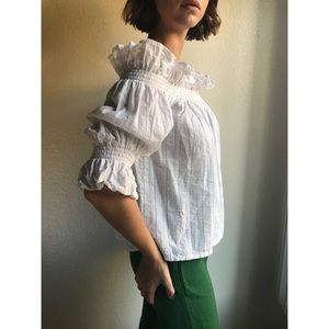 [vintage] Lolita ruffle off the shoulder blouse