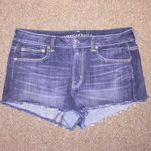 American eagle hi waisted jean shorts