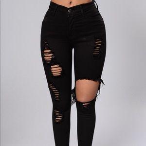 Glistening Fashion Nova Jeans SIZE 7