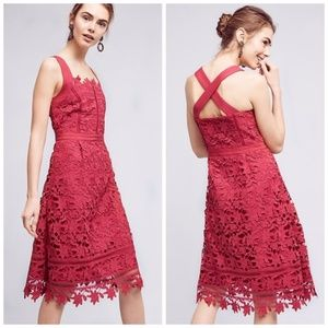 Anthropologie HD in Paris Mulberry CrossBack Dress