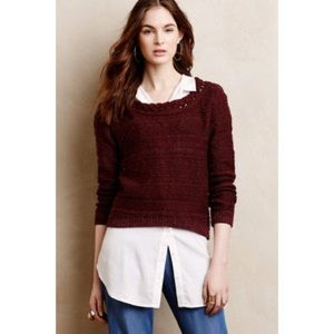 Anthropologie Moth Cropped Sweater
