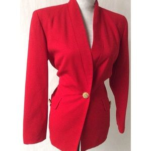 Red & Gold Vintage Blazer Size 6