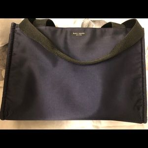 Kate Spade Diaper Bag Navy Blue Satin Vintage!