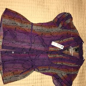 Multicolored East 5th purple blouse.