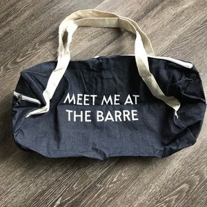 Denim Gym Bag. Brand New.