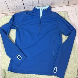 Lands End active Pullover shirt thumb holes Sz Med