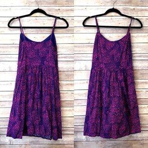 GAP pink & purple printed sundress