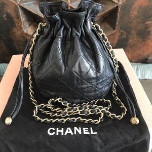 35d2c4d475d CHANEL Bags   Mini Vintage Drawstring Bag Black Lambskin   Poshmark