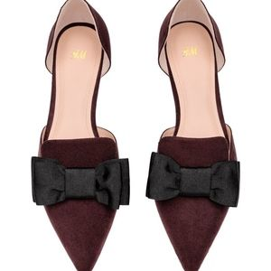 H&M Pointed Flats with Bow - sold out online