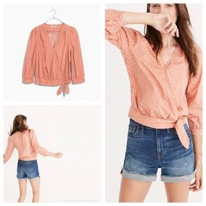 a9bd12edeb8cb Madewell Tops - Madewell Wrap Top in Star Scatter
