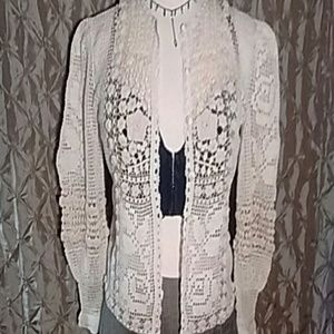 Vintage Crocheted Blouse!