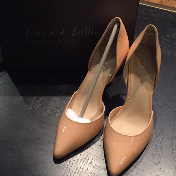 f90e5aabc4de New with flaw Lara   Lillian Nude High Heels 8.5