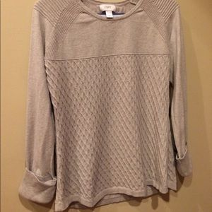 Ann Taylor Loft Size M tan light sweater