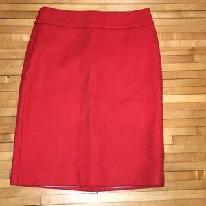 JCrew Size 2 like new wool pencil skirt