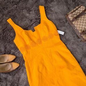 NWT TRINA TURK Orange Sleeveless Dress