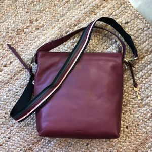 Fossil maya small hobo in Cabernet w tag new tote