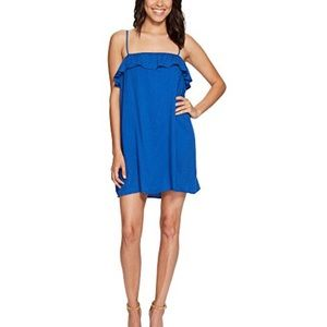 BB Dakota Colbalt Blue Birkin Ruffle Swing Dress