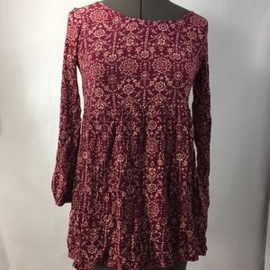 Forever 21 long sleeve burgundy tunic