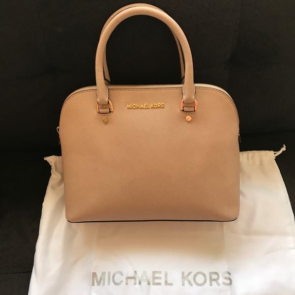 MICHAEL Michael Kors Handbags - Michael Michael Kors Cindy Medium Satchel in Blush