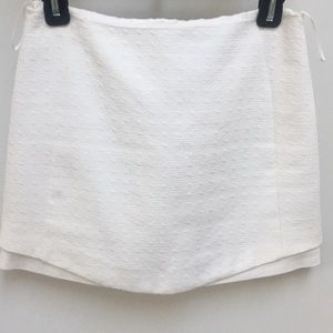 Topshop white mini skirt