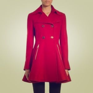 Laundry by Shelli Segal Doubled Breasted Peacoat