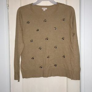 Camel sweater with jewels