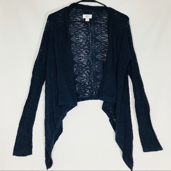 LOFT - Ann Taylor Loft Navy Blue Shrug Cardigan Sz Small from ...