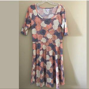 New LuLaRoe cabbage Floral print nicole dress XL
