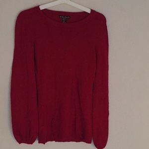 forever 21 • red bell sleeve sweater