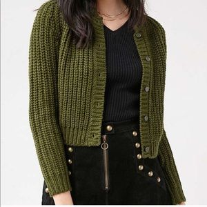 Unif x UO green Chloe cardigan Sz Small