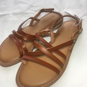 OLD NAVY | BROWN FAUX LEATHER SANDAL
