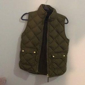 J.Crew Green Excursion Vest