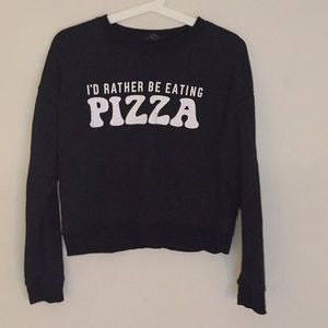 forever 21 • id rather be eating pizza sweater