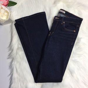 J Brand Flare Leg 800 Ink Dark Wash Jean Size 27