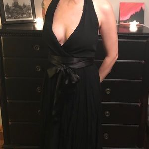 ABS Marilyn Monroe style black dress