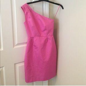 J. Crew one shoulder cotton candy dress