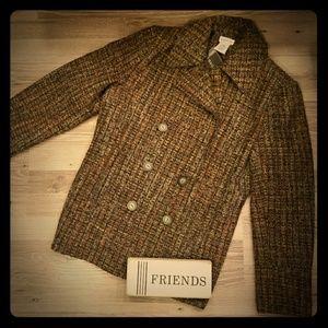 Brown multicolor jacket